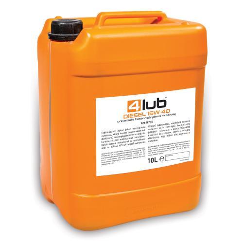 4Lub Kanna 10L 4 Lub Diesel 15W40 Cimke 160×112 mm 10L 190624 190626-500